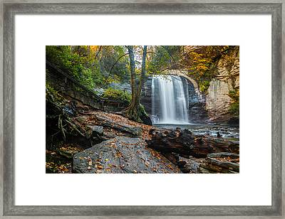 Framed Print featuring the photograph Looking Glass Waterfall by RC Pics