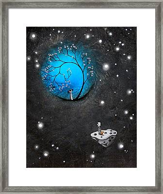 Looking In On Your World Framed Print by BestArtStudios Mike and Jaime Best