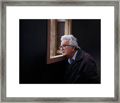 Framed Print featuring the photograph Looking In by Paul Indigo