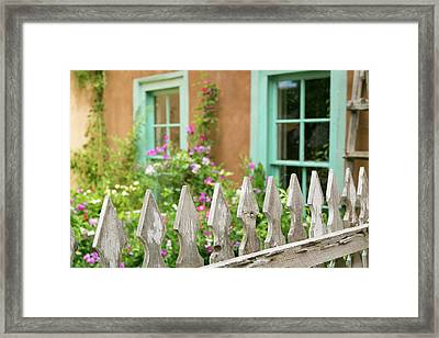 Looking Into A Garden Of A House, Taos Framed Print