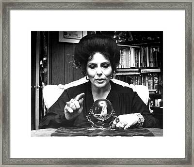 Looking Into Crystal Ball Framed Print by Retro Images Archive