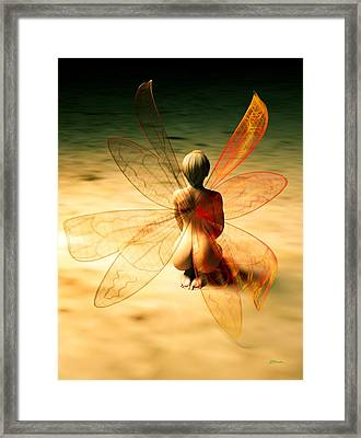 Looking Into Darkness Framed Print by Daniel Bauer