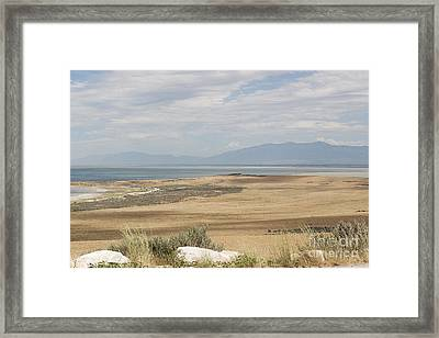 Framed Print featuring the photograph Looking North From Antelope Island by Belinda Greb