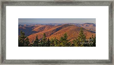 Looking North From Mount Equinox Framed Print
