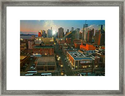 Looking North From The West Side Framed Print by Diana Angstadt