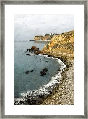 Looking North To The Lighthouse Framed Print