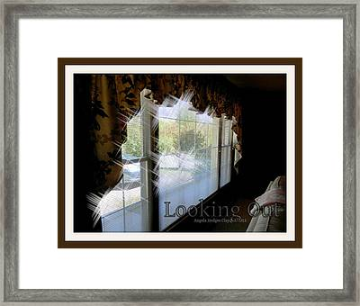 Framed Print featuring the digital art Looking Out by Angelia Hodges Clay