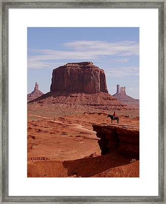 Looking Out At John Ford Point Framed Print