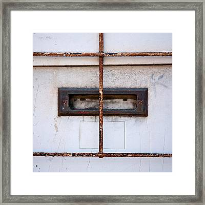 Looking Out For The Mailman Framed Print by Peter Tellone