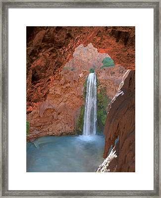 Looking Out From The Cave Framed Print by Alan Socolik