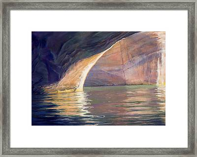 Looking Out Lake Powell Framed Print