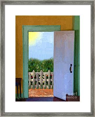 Looking Out My Back Door Framed Print by RC DeWinter