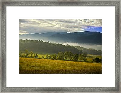 Looking Out Over Cades Cove Framed Print by Andrew Soundarajan