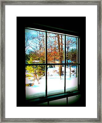 Looking Out Framed Print by Pamela Hyde Wilson