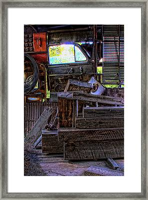 Looking Out The Car Window Framed Print