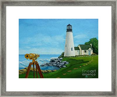 Looking Out To Sea Framed Print by Anthony Dunphy