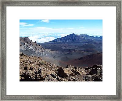 Framed Print featuring the photograph Looking Over The Edge by Sheila Byers