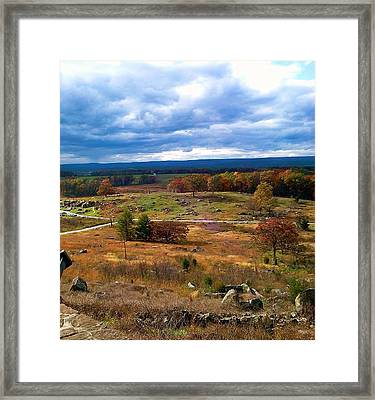 Looking Over The Gettysburg Battlefield Framed Print