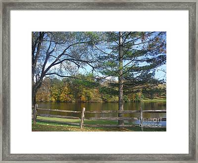 Looking Over The Pond Framed Print by Linda Walker