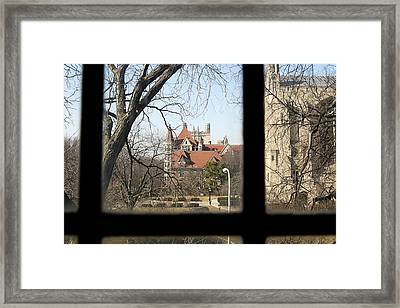 Looking Past The Window  Framed Print by Eugene Bergeron