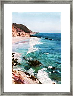 Looking South On The Northern California Coast Framed Print