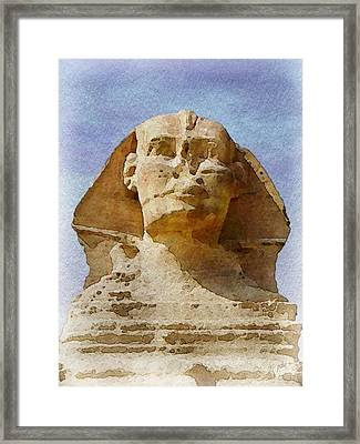 Looking Straight At The Sphinx Framed Print