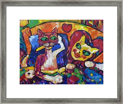 Looking Swell Cats Framed Print