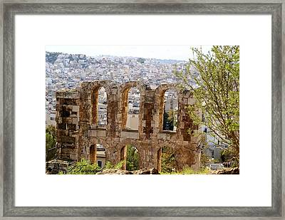 Looking Through An Ancient Window Framed Print by Patricia Twardzik