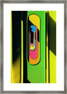 Looking Through Colorful Ovals Framed Print