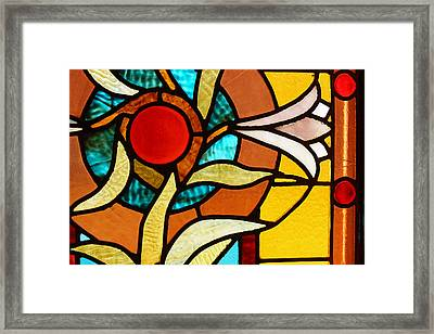 Looking Through Stain Glass Framed Print by Thomas Fouch