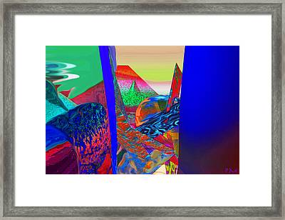 Looking Through The Stak Framed Print