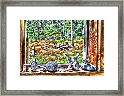 Looking Through The Window With Whalebones Framed Print