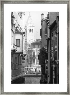 Looking Through To A View Venice Framed Print by Dorothy Berry-Lound