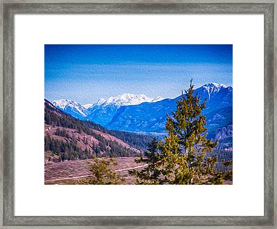 Looking To Mazama From Sun Mountain Framed Print by Omaste Witkowski