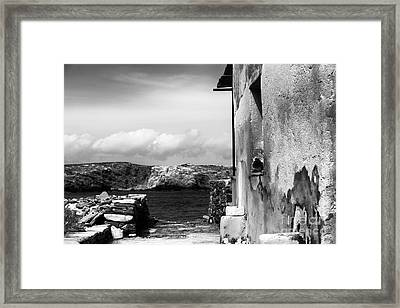 Looking To The Aegean Sea Framed Print by John Rizzuto