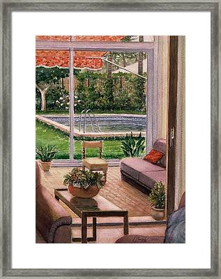 Looking To Outside  Framed Print by Laila Awad Jamaleldin
