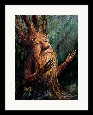 Tree Creature Framed Prints