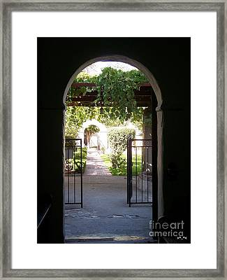 Looking Toward The Garden Framed Print