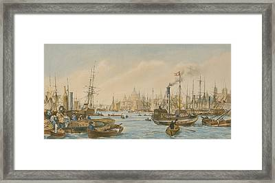 Looking Towards London Bridge Framed Print by William Parrot