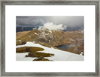 Looking Towards Meall Garbh Framed Print