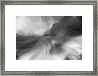 Looking Up At Corona In The Sky Northern Lights Aurora Borealis Near Tromso In Northern Norway Europ Framed Print