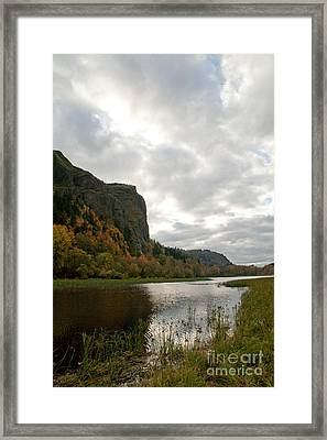 Looking Up At Crown Point Framed Print by Cari Gesch