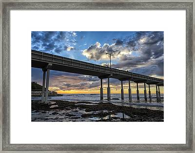 Looking Up At The Ob Pier Framed Print