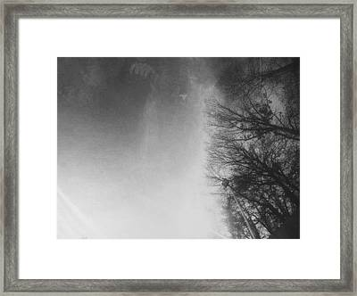 Looking Up At The Sky While Driving Framed Print by J Riley Johnson