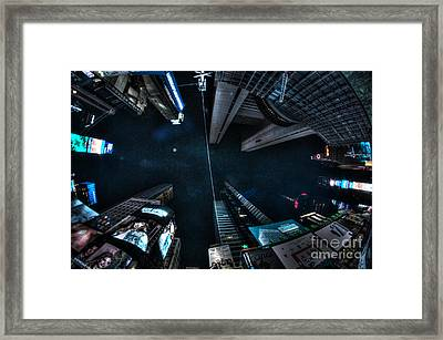 Looking Up At Times Square Framed Print