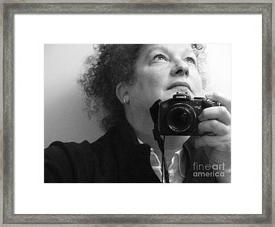 Looking Up - B/w Framed Print