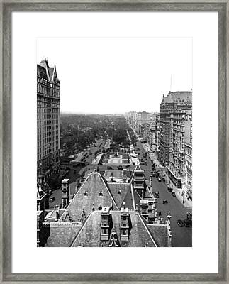 Looking Up Fifth Avenue Framed Print by Underwood Archives