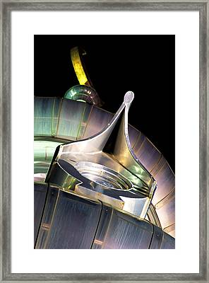Framed Print featuring the photograph Looking Up On A Minaret by Daniel Woodrum