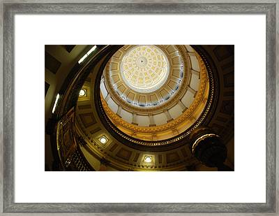 Looking Up The Capitol Dome - Denver Framed Print