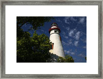 Looking Up To Marblehead Light Framed Print